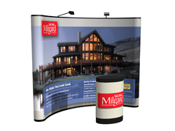 10 ft. Curved Floor Tradeshow Display