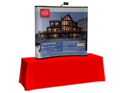 6 ft Curved TableTop Tradeshow Display