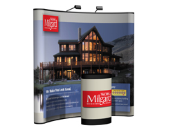 8 ft. Curved Floor Tradeshow Display